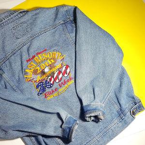 Vintage LEE Jacket 88' Daytona Beach Bike Week USA